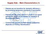 supply side main characteristics 1