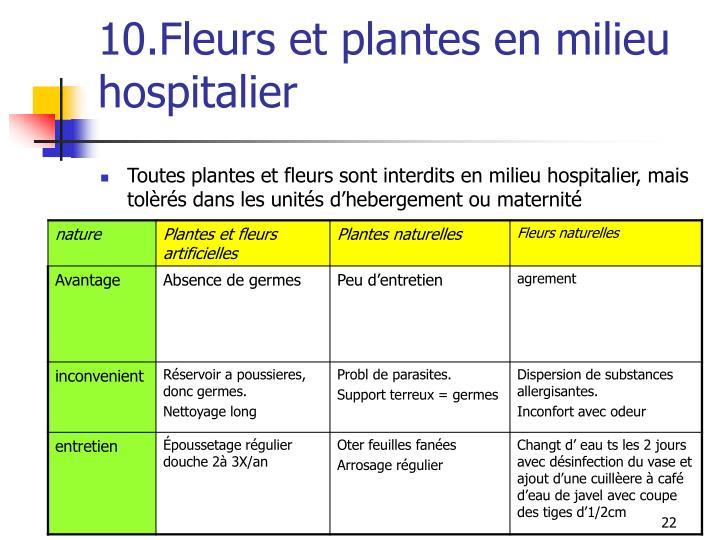 10.Fleurs et plantes en milieu hospitalier