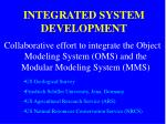 integrated system development