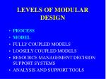 levels of modular design1
