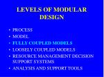 levels of modular design2