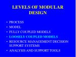 levels of modular design3