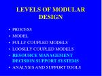 levels of modular design4