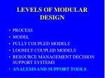 levels of modular design5