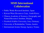 mms international collaboration