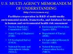 u s multi agency memorandum of understanding