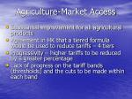 agriculture market access