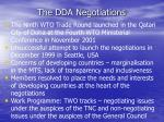 the dda negotiations
