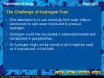the challenge of hydrogen fuel1