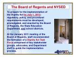 the board of regents and nysed