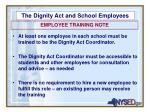 the dignity act and school employees