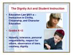 the dignity act and student instruction