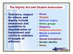 the dignity act and student instruction1