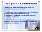 the dignity act student health