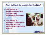 why is the dignity act needed in new york state