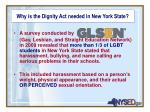 why is the dignity act needed in new york state1