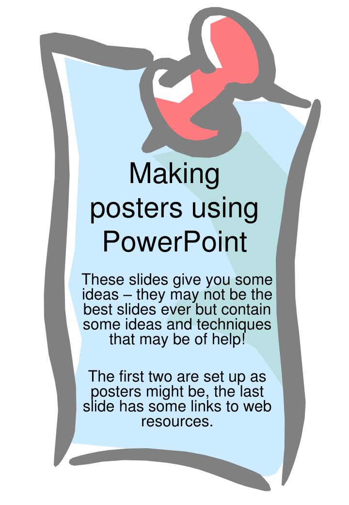 making posters using powerpoint n.