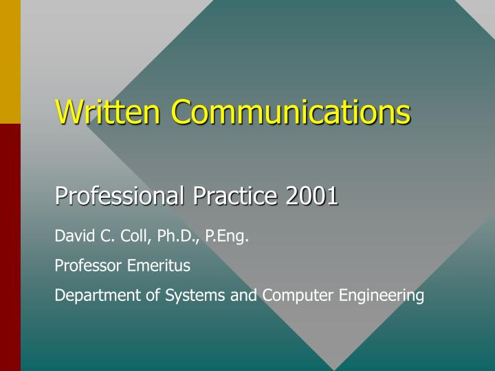 written communications n.