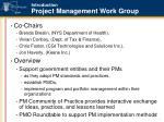 introduction project management work group