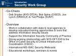 introduction security work group