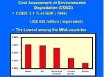 cost assessment of environmental degradation coed
