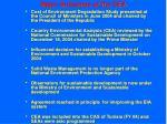 major outcomes of the cea