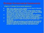strategic environmental assessments