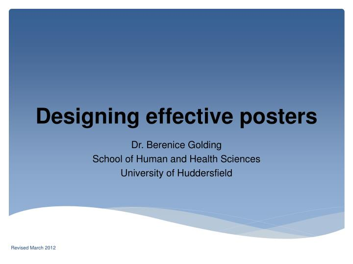 designing effective posters n.