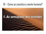 iii como se constitui a mente humana1