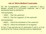 ask tell in reified constraints