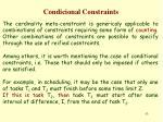 condicional constraints
