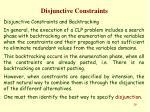 disjunctive constraints