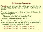 disjunctive constraints1