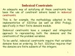 indexical constraints1