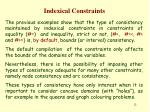 indexical constraints11