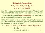 indexical constraints13