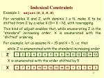 indexical constraints21