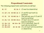 propositional constraints1