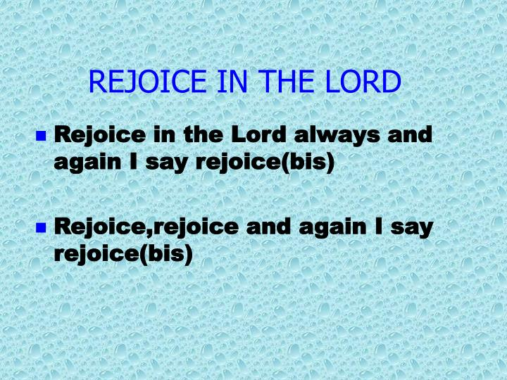 rejoice in the lord n.