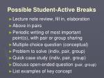 possible student active breaks