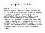 le opere in latino 1