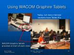using wacom graphire tablets