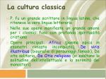 la cultura classica