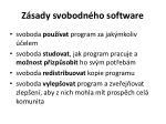 z sady svobodn ho software