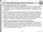 7 increase international support for iraq developments