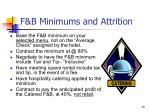 f b minimums and attrition