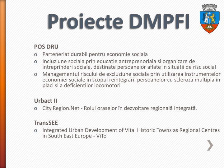 Proiecte DMPFI
