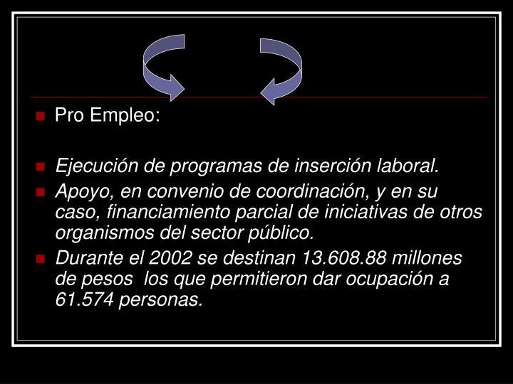 Pro Empleo: