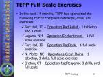 tepp full scale exercises1