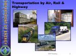 transportation by air rail highway